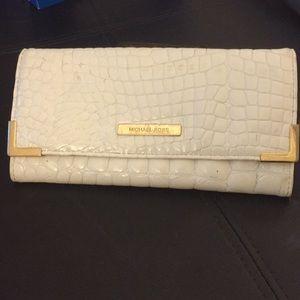 Authentic Michael Kors white wallet